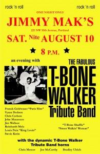 t bone walker poster yellow