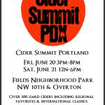 Cider Summit Portland. June 20 and 21