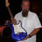 Brad Weeks - Guitar Raffle Winner - photo by Greg Johnson