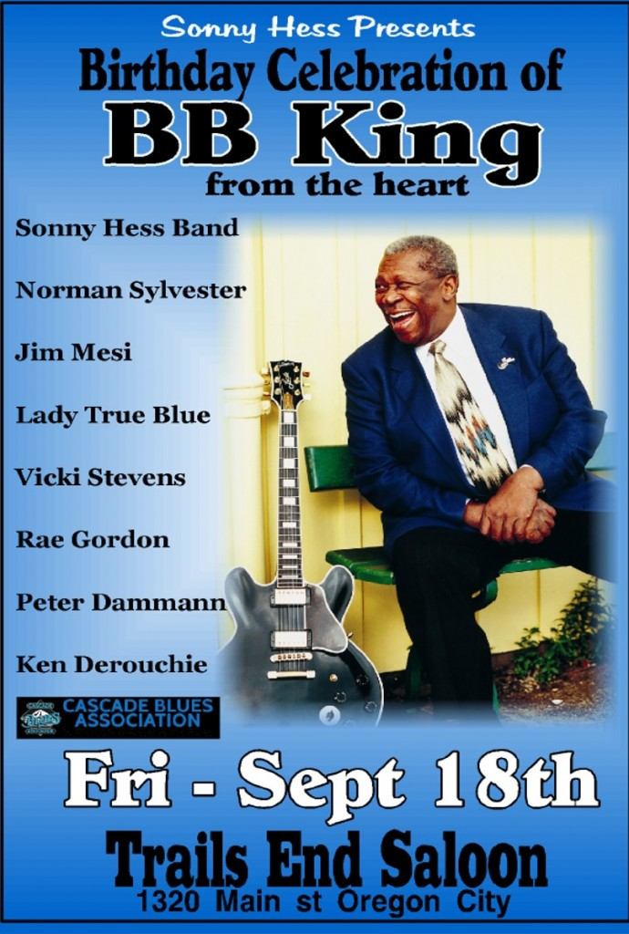BB King Show Poster